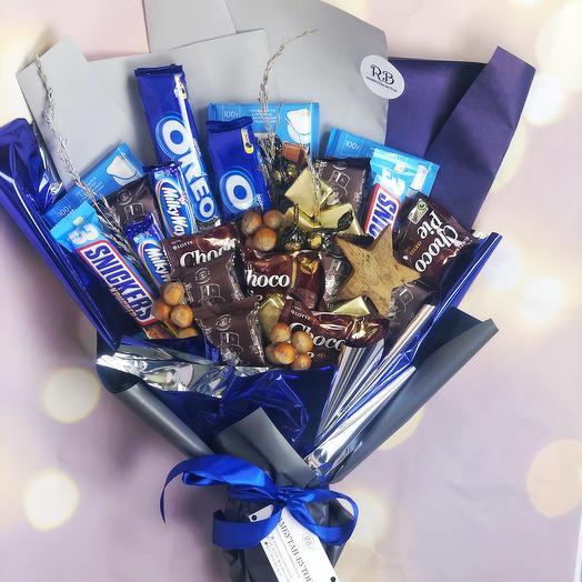 Шоколадный съедобный букет