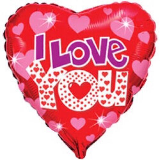 Шар «I love you»