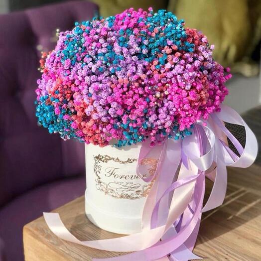 Цветы в коробке «Приятный сюрприз»