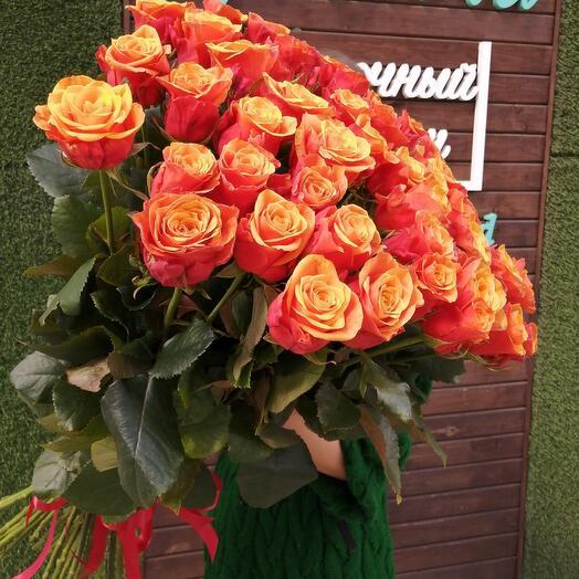 Букет из 51 розы  Испания