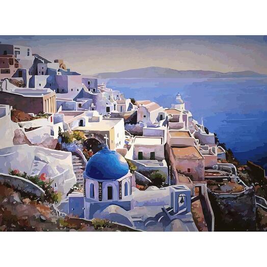 Картина по номерам Греция на закате