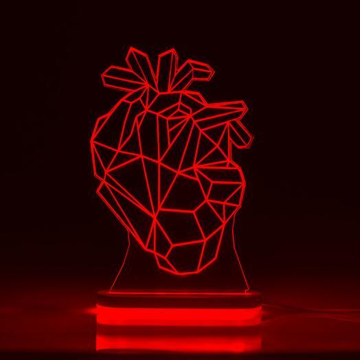 Лампа Настоящее сердце (1 цвет подсветки)