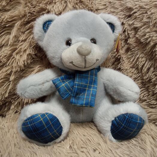 Мишка в синем шарфе