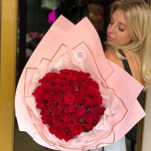 Розы в упаковке