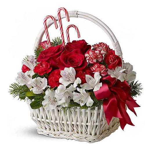 Новогодняя корзина «Метелица»: букеты цветов на заказ Flowwow