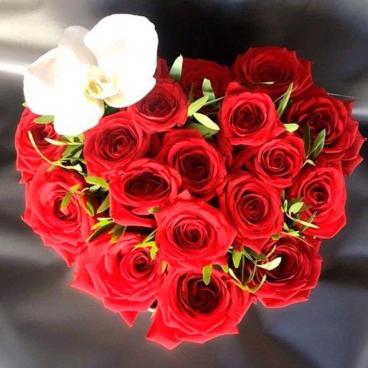 "Коробочка ""В моем сердце"" : букеты цветов на заказ Flowwow"