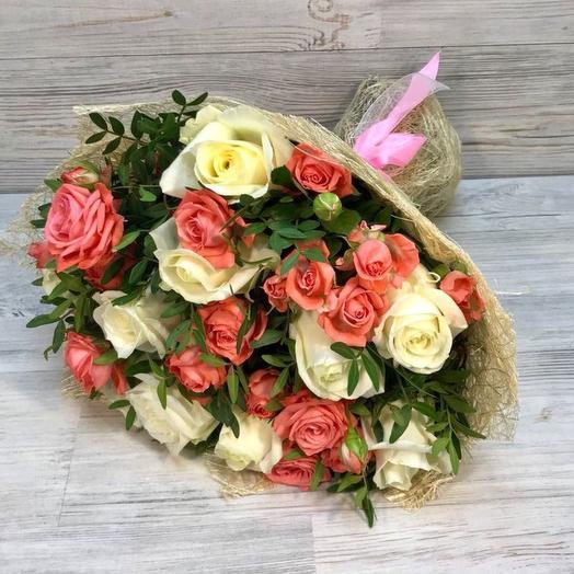 Розы , Кустовые розы: букеты цветов на заказ Flowwow
