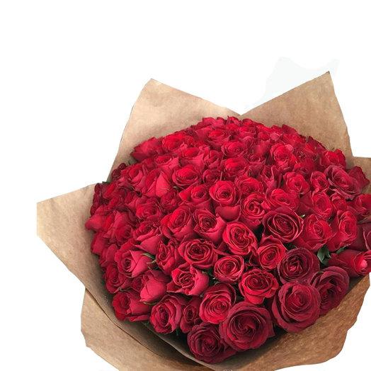 101 роза Букет от сердца: букеты цветов на заказ Flowwow