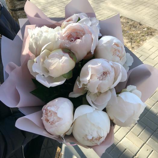 Пионы-пломбир: букеты цветов на заказ Flowwow
