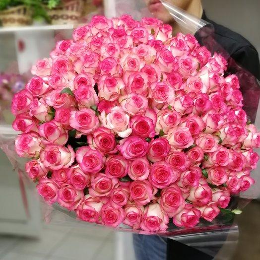 Букет Джулия из 101 розы в ленте