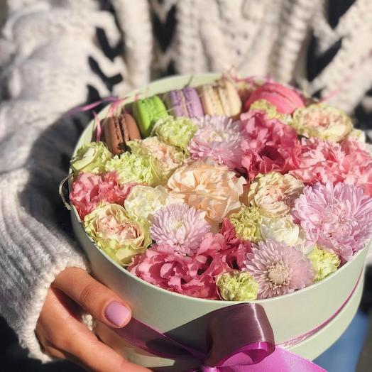 Коробочка «зефирная»: букеты цветов на заказ Flowwow