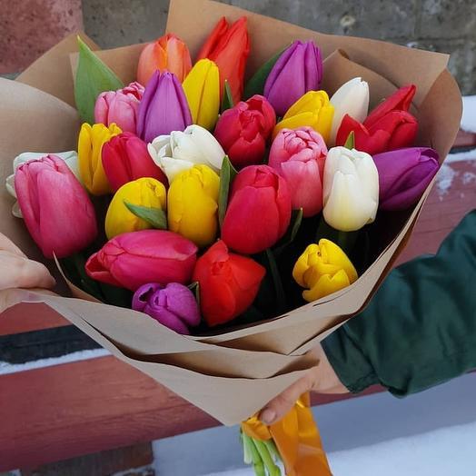 25тюльпан микс: букеты цветов на заказ Flowwow