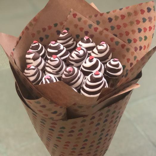 Милый букет клубники в шоколаде: букеты цветов на заказ Flowwow