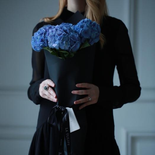 Гортензия голубая / 5шт: букеты цветов на заказ Flowwow