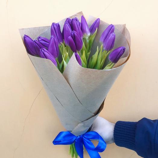 Букет тюльпанов «Виолет»: букеты цветов на заказ Flowwow