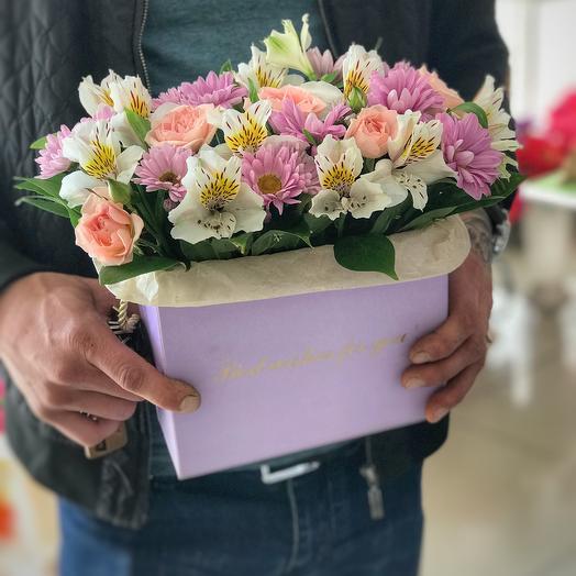 Сумочка нежности: букеты цветов на заказ Flowwow