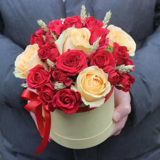 Mini box of roses: flowers to order Flowwow