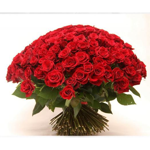 101 красная роза в ленте: букеты цветов на заказ Flowwow
