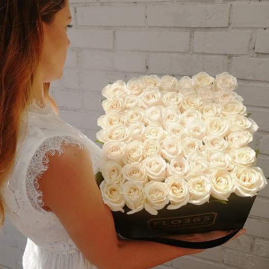 Flowerbox49 коробка 49 роза: букеты цветов на заказ Flowwow