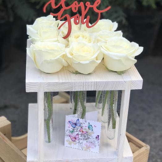 Розы в колбах: букеты цветов на заказ Flowwow
