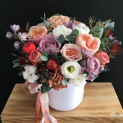 Осеняя коробочка: букеты цветов на заказ Flowwow
