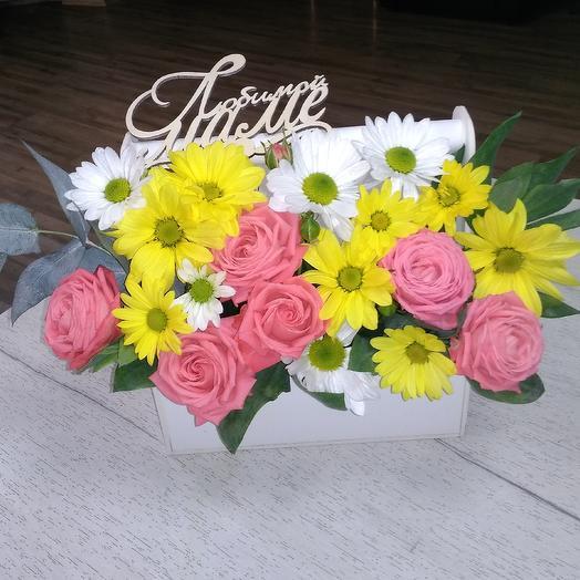 Ящик с цветами для мамулечки: букеты цветов на заказ Flowwow