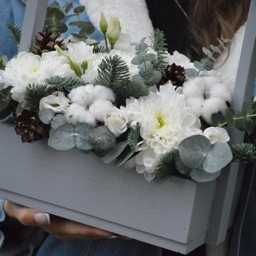 """Цветы в ящике """"Снежинка"""": букеты цветов на заказ Flowwow"""