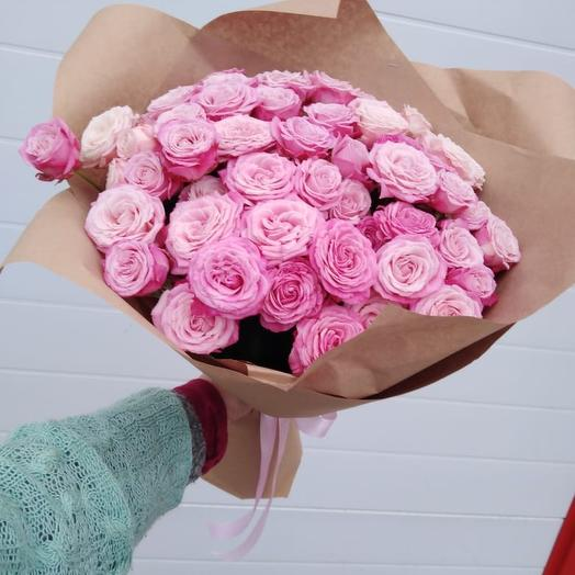 Букет пионовидных роз Несравненная Сара Бернар»: букеты цветов на заказ Flowwow