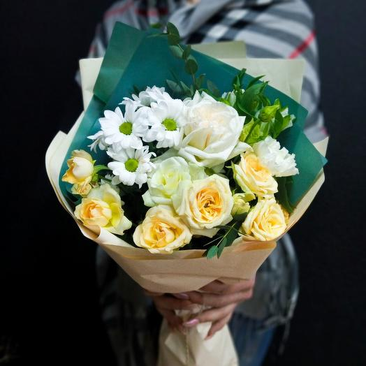 "Bouquet ""Creme caramel"" for your favorite: flowers to order Flowwow"
