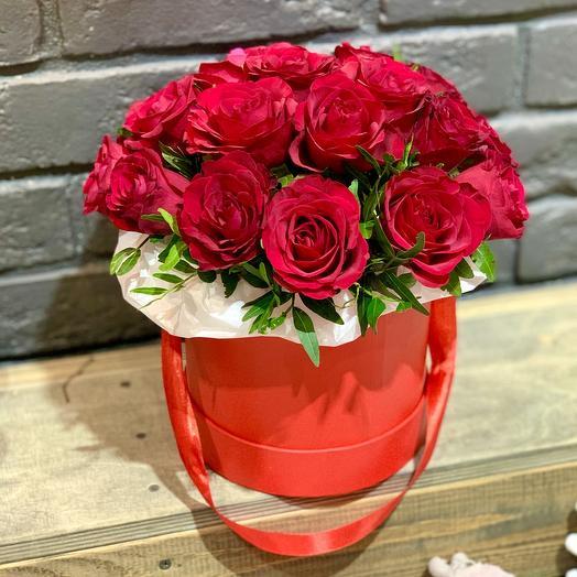 Композиция в коробке «Мое сердце»: букеты цветов на заказ Flowwow