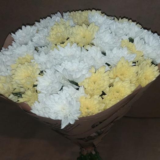 Букет из кустовой хризантемы микс: букеты цветов на заказ Flowwow