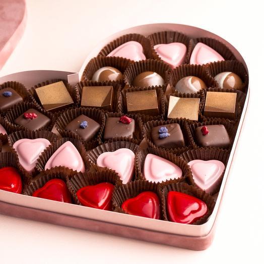 """Шоколадные конфеты  """"Бархатное сердце"""""""
