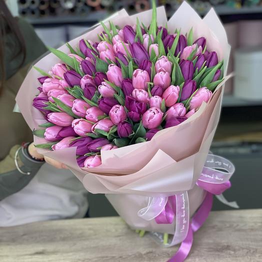 Букет Любовное письмо из 101 тюльпана