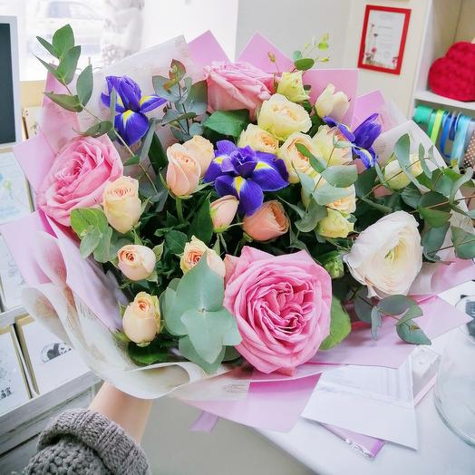 Букет с розами Охара