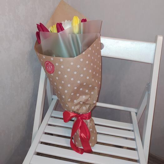 Микс-букет из тюльпанов