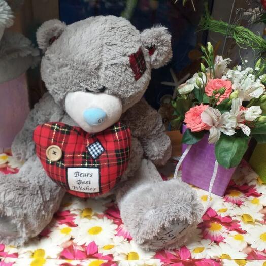 Медведь Тедди с сердцем