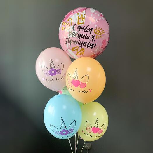 """Воздушные шары """"яркие единорожки"""""""