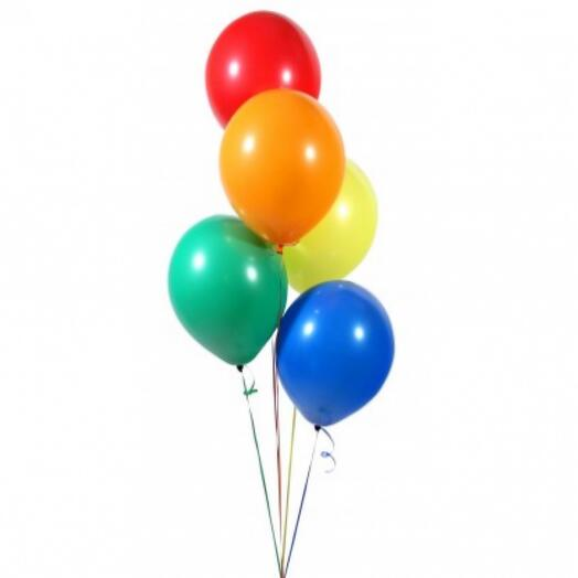 Flowers Lovers - 5 цветных шаров с гелием