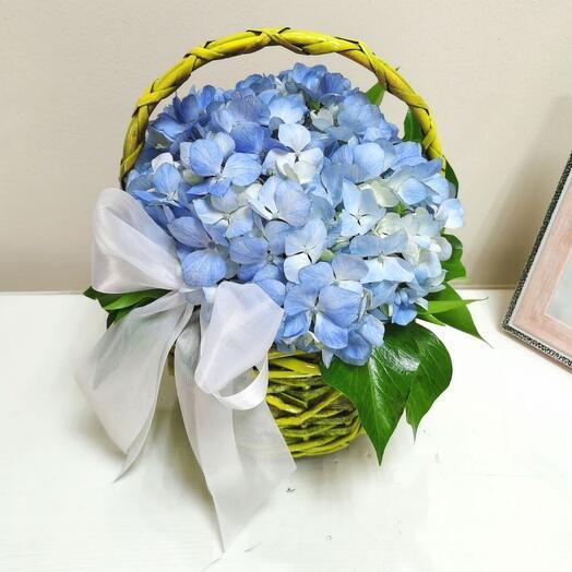 Корзина с цветами мини