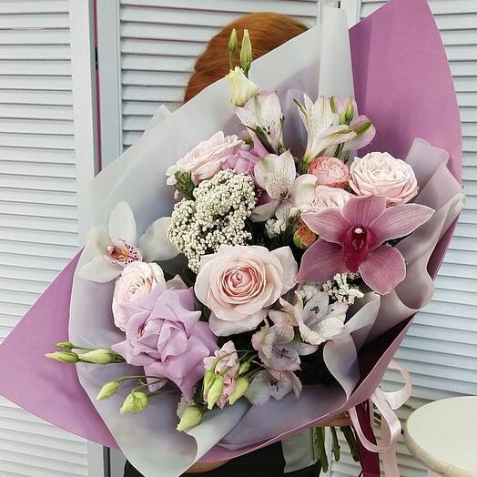 """Букет цветов """"Вечерний блюз"""""""