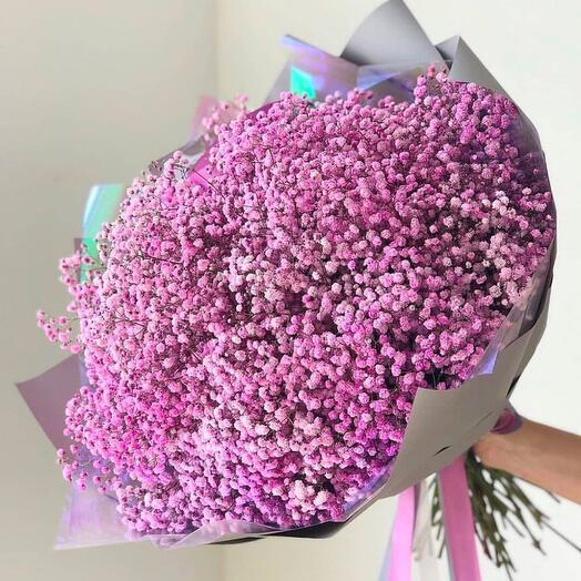 Гипсофила . Воздушный букет - из розовой гипсофилы