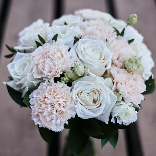 Букет невесты Белый микс