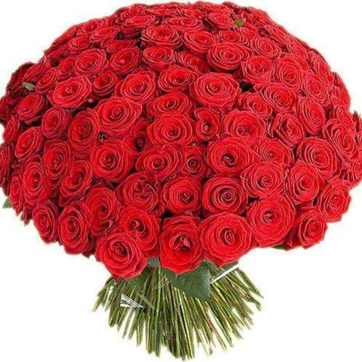 101 красная роза 60 см: букеты цветов на заказ Flowwow