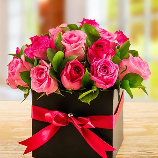 Box pink roses: flowers to order Flowwow