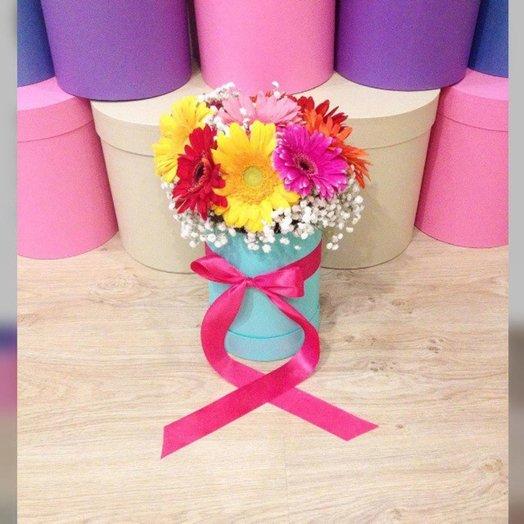 Радуга гербер: букеты цветов на заказ Flowwow