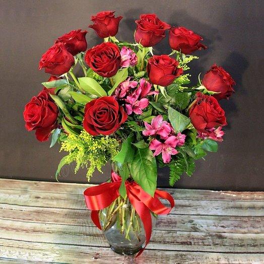 Страстная нежность (Букет 72): букеты цветов на заказ Flowwow