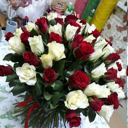 101 роза : букеты цветов на заказ Flowwow