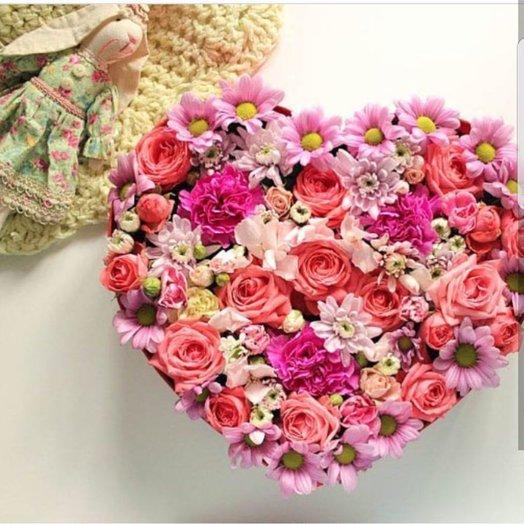 Коробочка Розовый Микс
