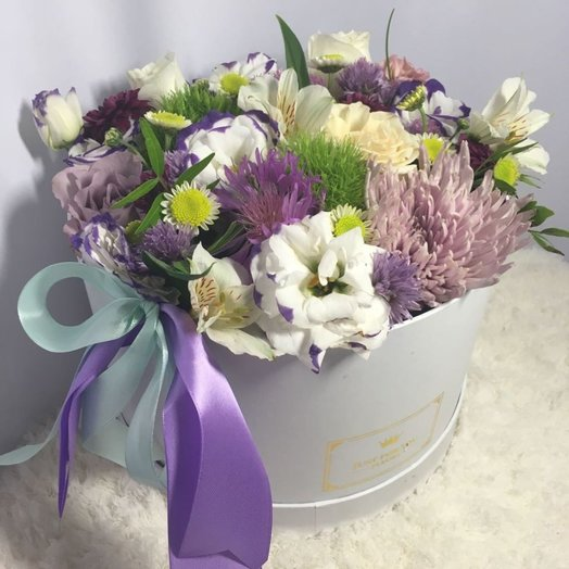 Цветочная коробка Весна с полевыми микс цветами