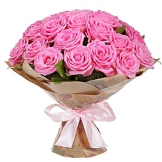 19 роз аква в крафте: букеты цветов на заказ Flowwow